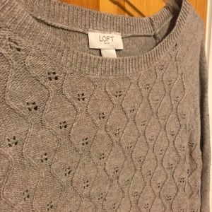 Oatmeal Sweater with scallop detail